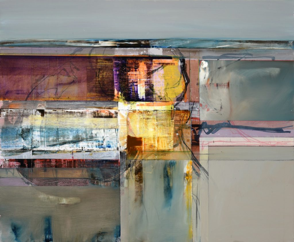 John Waller Landscape memory and spatial transformation oil on linen