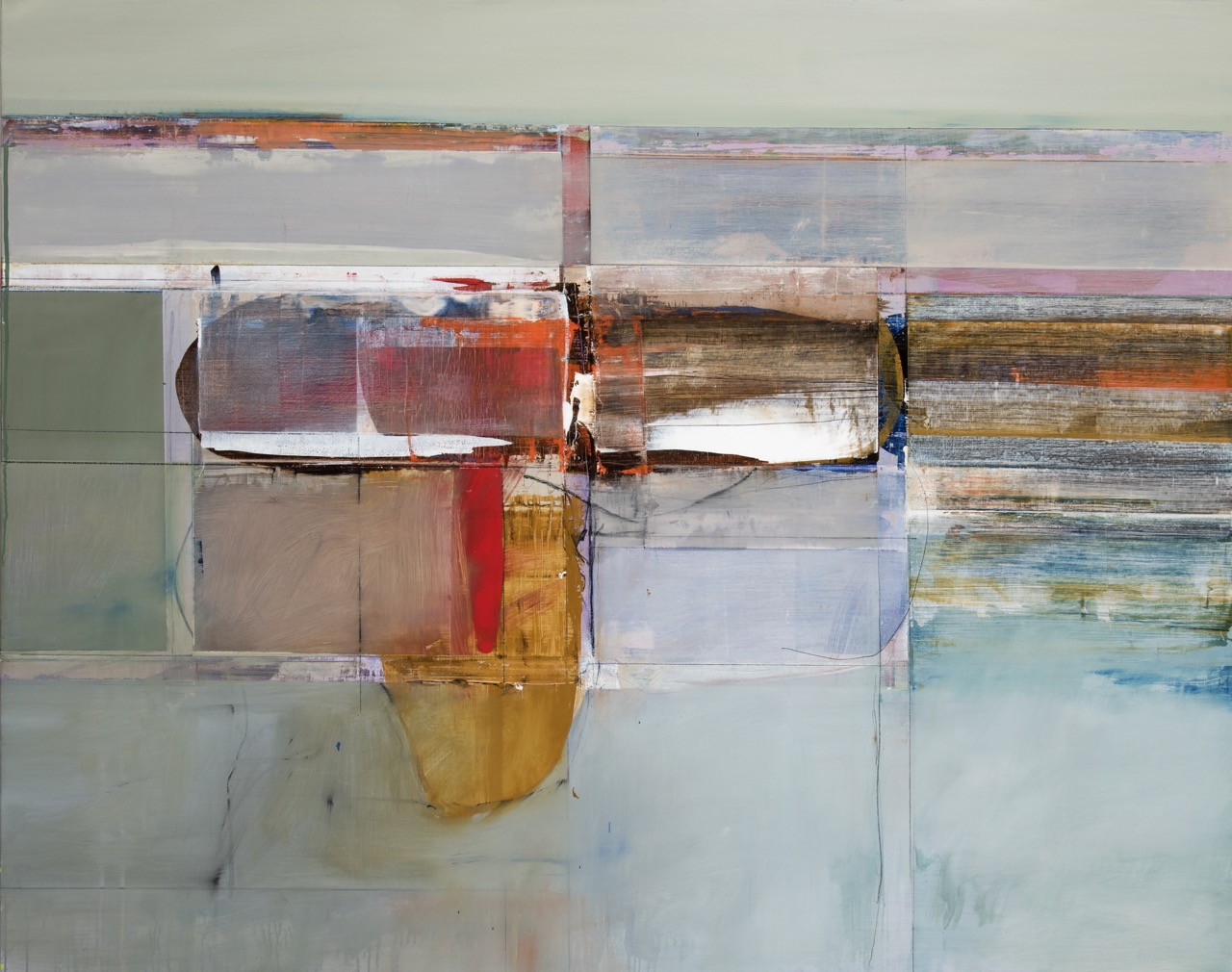 John Waller Memory and space Oil on linen 129 x 167cm