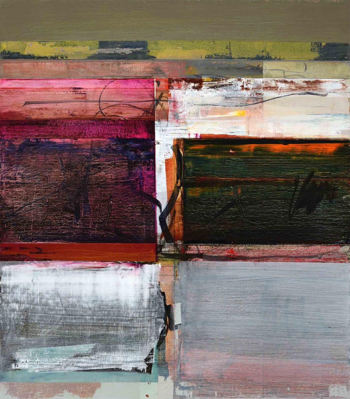 John Waller Transformant 2 Oil on linen 80 x 70 cm