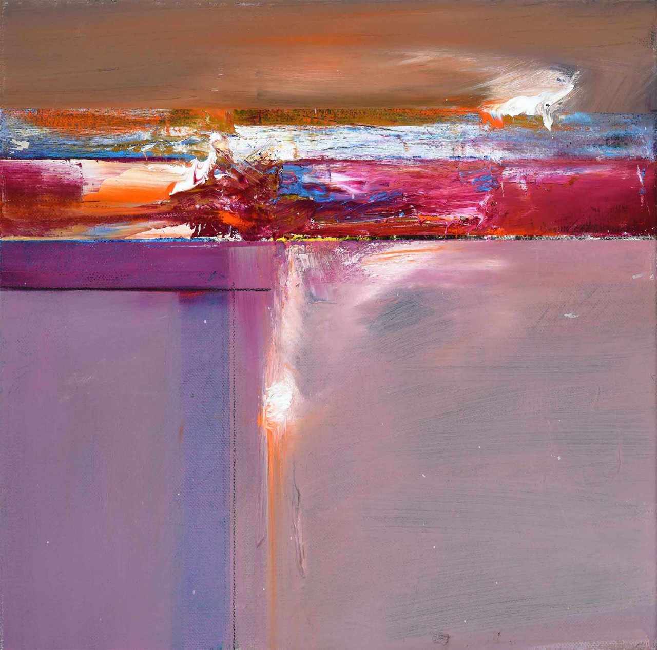 John Waller Transformant Oil on linen 60 x 60 cm